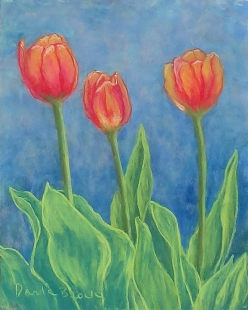 """Attempt at Tulips"" original fine art by Darla Brock"