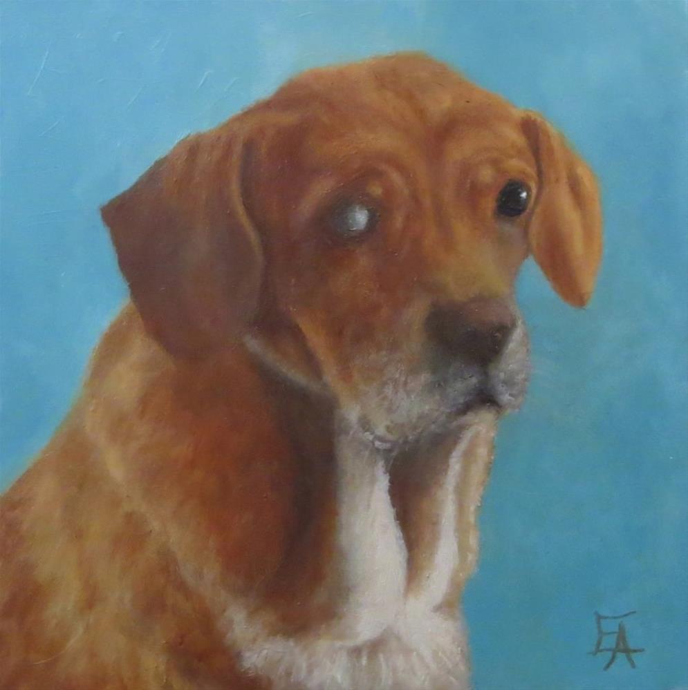 """Garuda Aviary Fundraiser - Joy Beagle"" original fine art by Elizabeth Elgin"