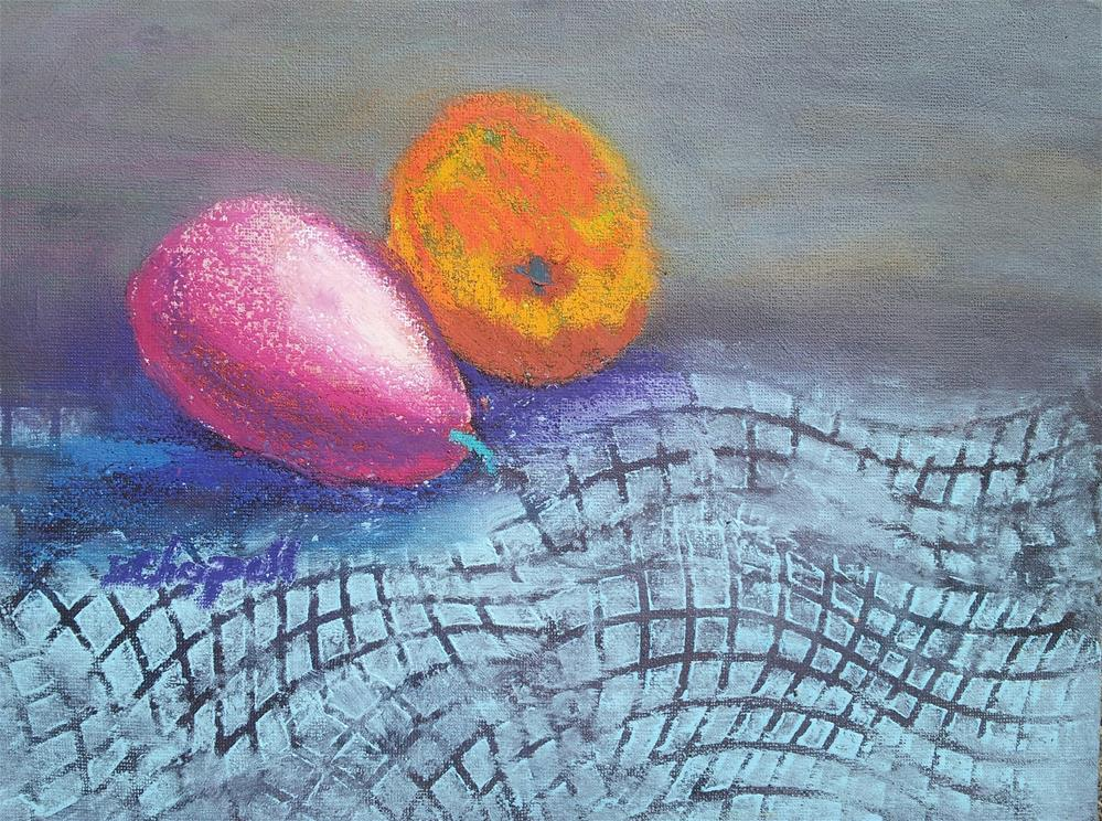 """Fruit Whimsy"" original fine art by Becky Chappell"