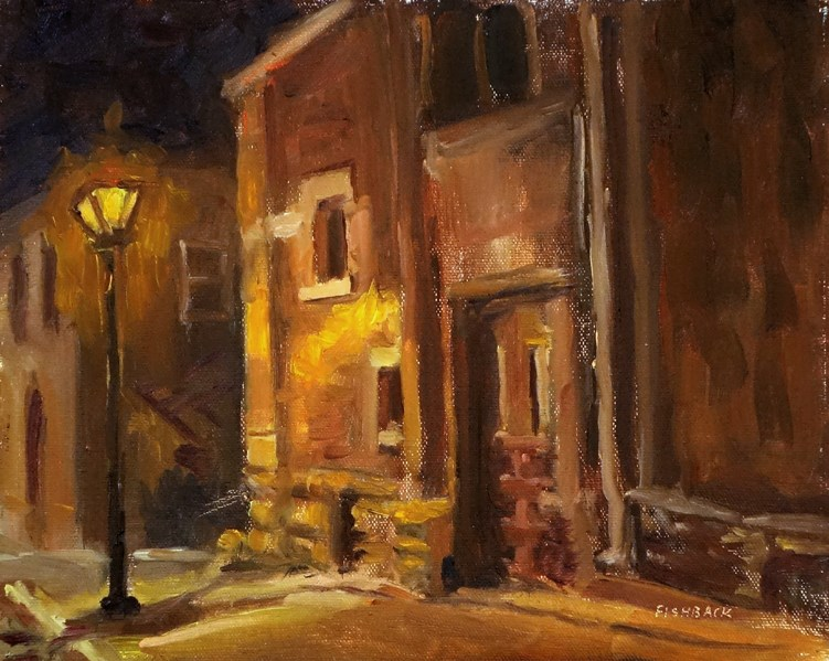 """Masonic Lodge, en plein air"" original fine art by Daniel Fishback"