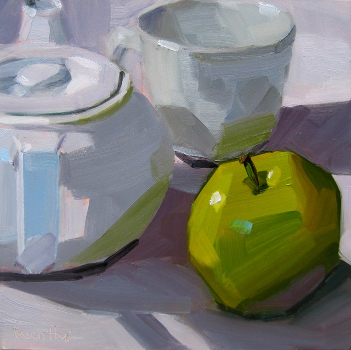 """After Apple Picking"" original fine art by Robin Rosenthal"