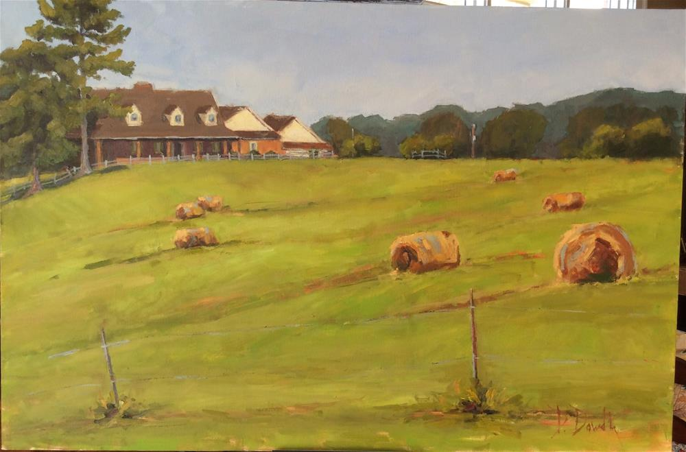 """Hawkins Farm"" original fine art by Debbie Dowdle"