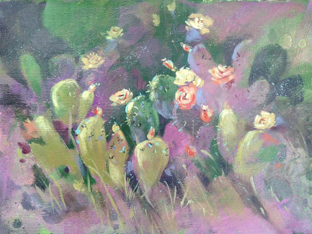 """Big Bend Cactus"" original fine art by Margie Whittington"