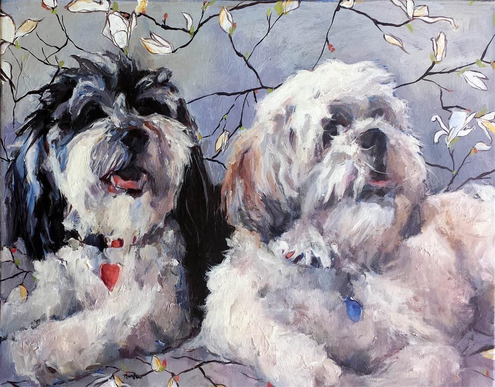 """Bandit and Phoebe"" original fine art by Nava Judith"