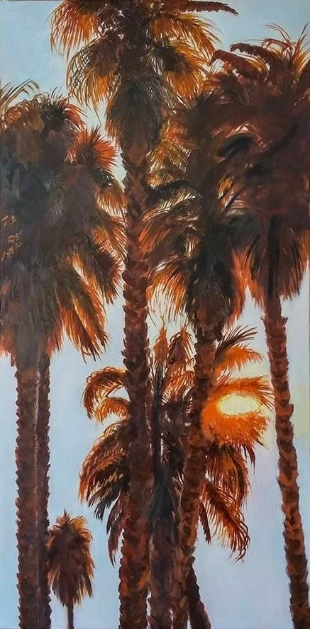 """Sunset Palms"" original fine art by Patricia Matranga"