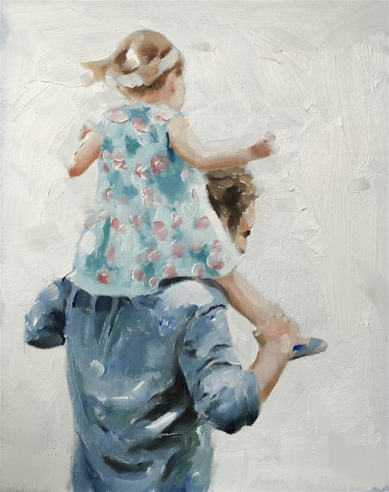 """Shoulder Ride"" original fine art by James Coates"