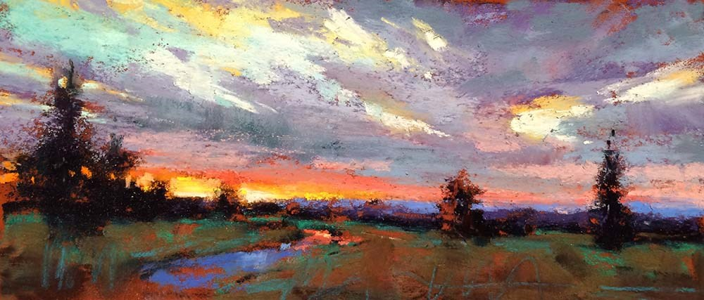 """An Evenings View"" original fine art by Marla Baggetta"