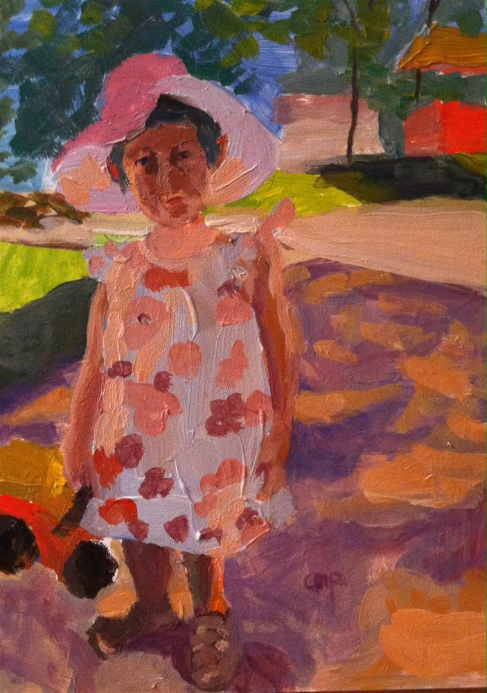 """Figurative young girl"" original fine art by Christine Parker"
