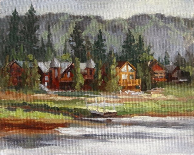 """Big Bear From North Shore"" original fine art by Karen Werner"