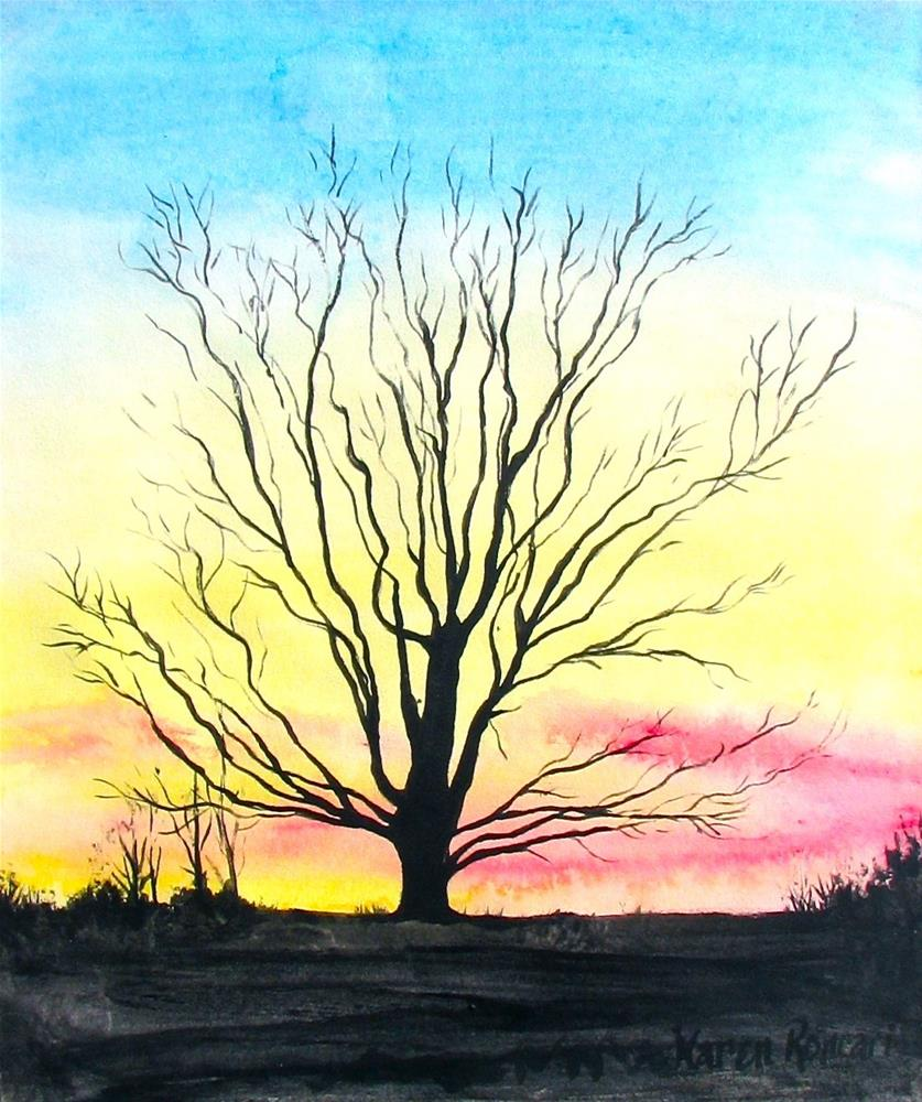 """Day's End"" original fine art by Karen Roncari"