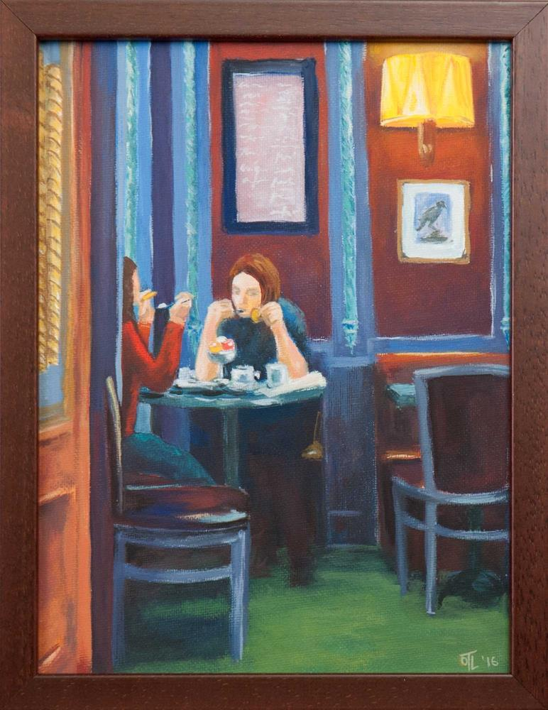 """DCS # 17 Parisian Tea room"" original fine art by Olga Touboltseva-Lefort"