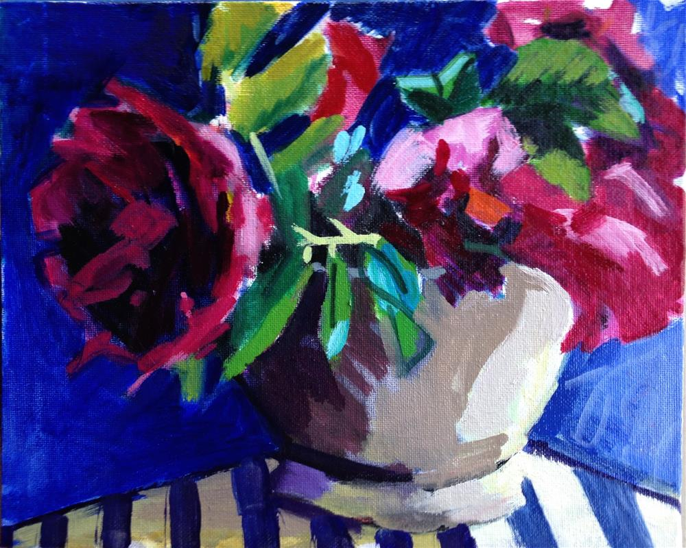 """Rosa Rugosa"" original fine art by Pamela Hoffmeister"