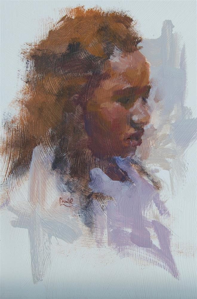 """Lilac"" original fine art by Chantel Barber"