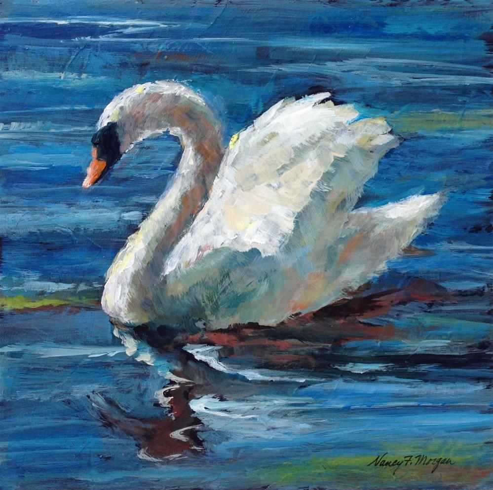 """The Swan"" original fine art by Nancy F. Morgan"