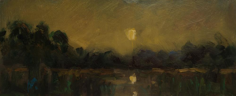 """""""Sun over Lake"""" original fine art by Andre Pallat"""