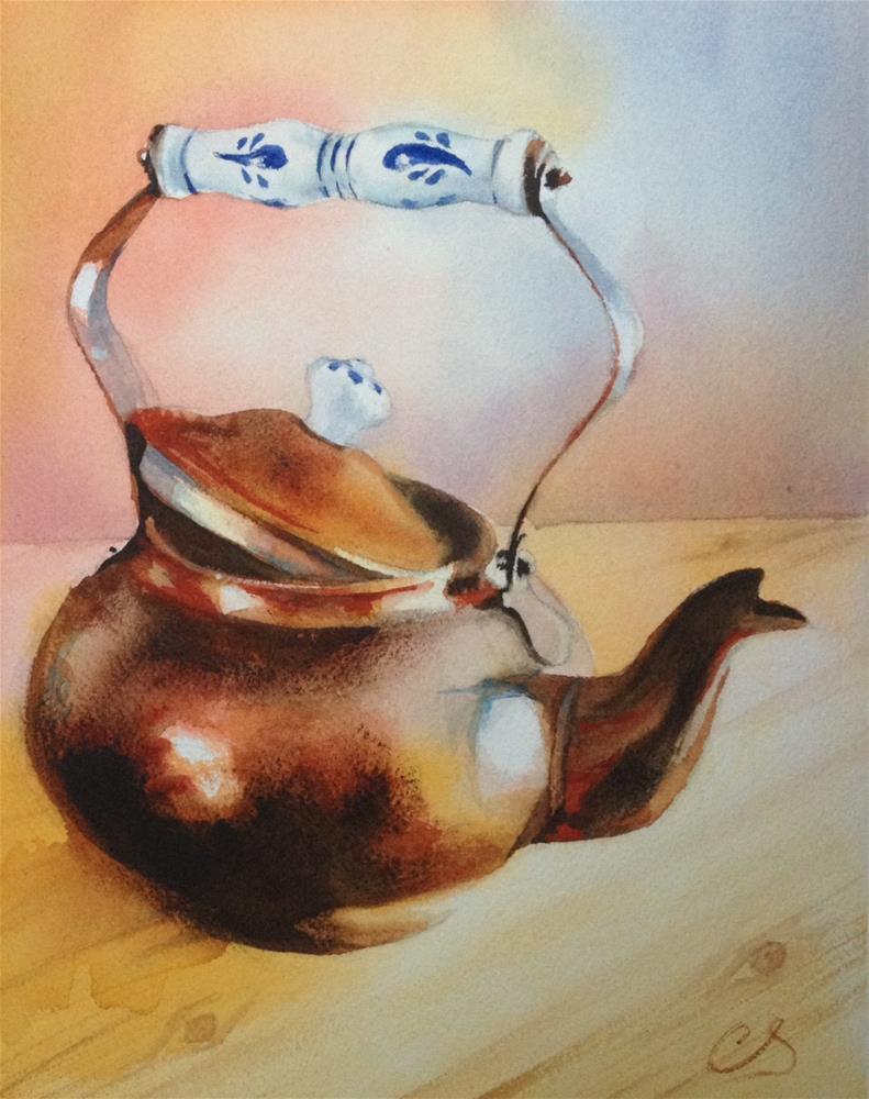 """""""Copper Teapot"""" original fine art by Claudia Selene"""