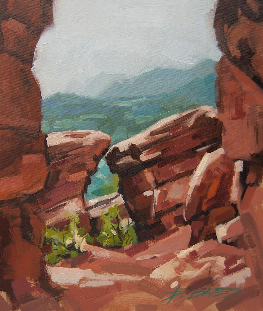 """Garden of the Gods from Rampart Range"" original fine art by David Bates"
