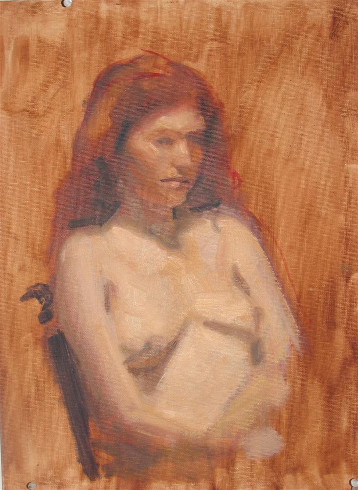 """Nude Bust"" original fine art by Megan Schembre"