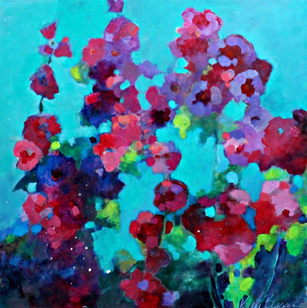 """Sultry Summer Day in the Garden"" original fine art by Kerri Blackman"