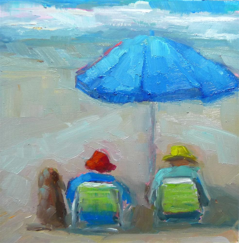 """Day at the Beach"" original fine art by Carol Josefiak"