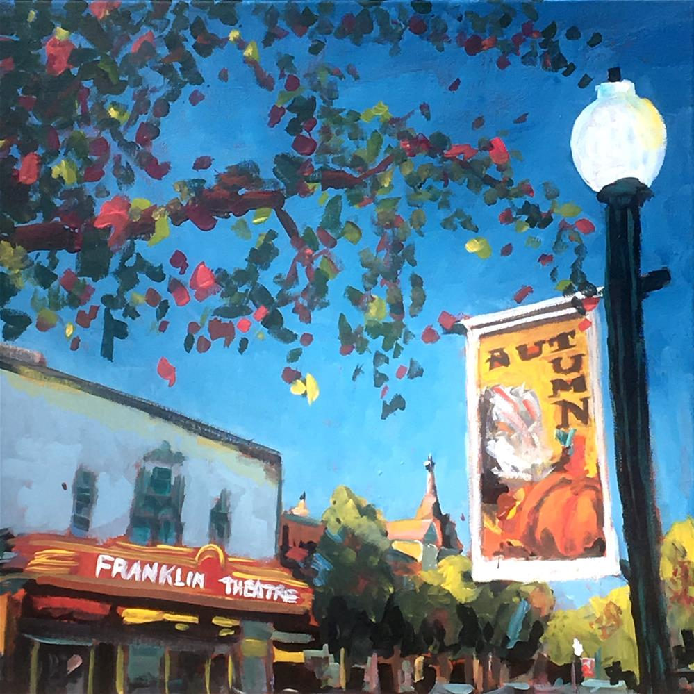 """Autumn Comes to Franklin"" original fine art by Susan Elizabeth Jones"