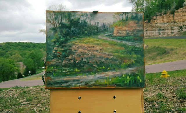 """Killdeer Drive"" original fine art by Tammie Dickerson"