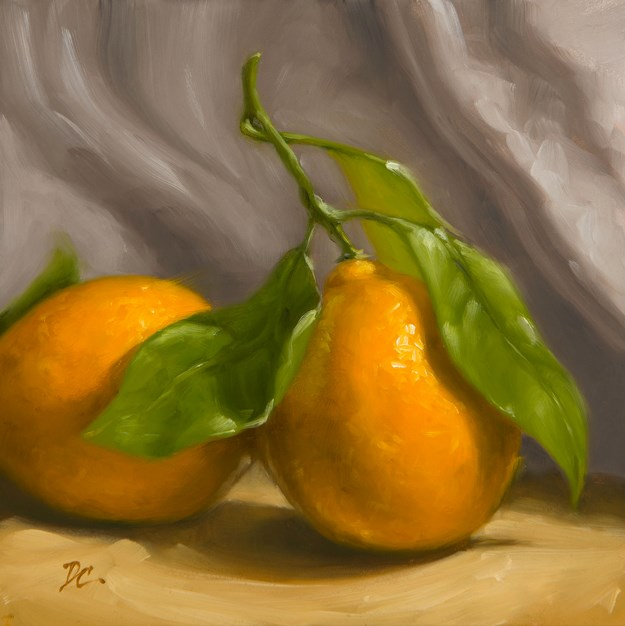 """Meyer Lemon  Duo"" original fine art by David Capalungan"