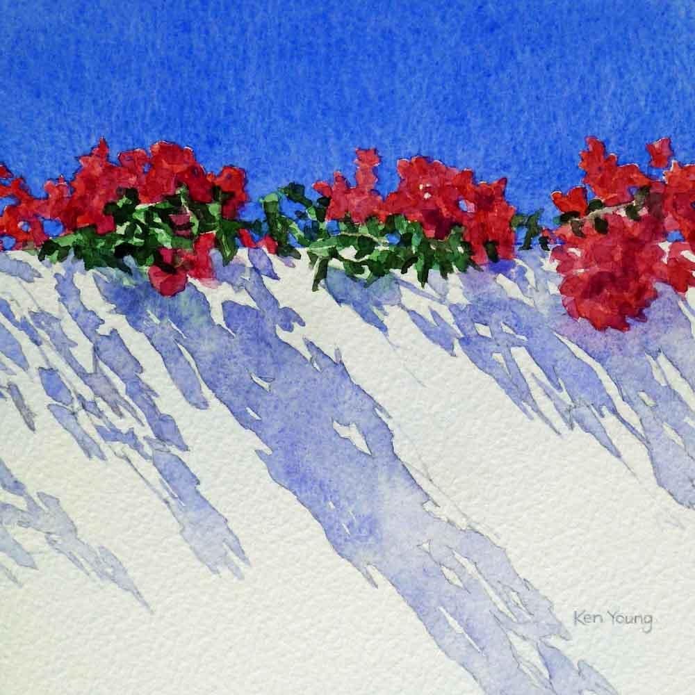 """White Wall"" original fine art by Ken Young"