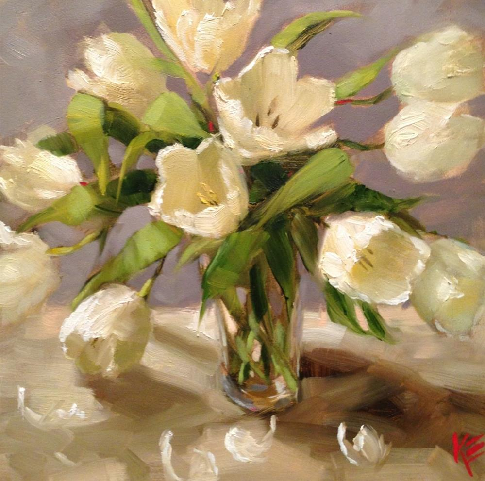 """Tulip Blanca"" original fine art by Krista Eaton"