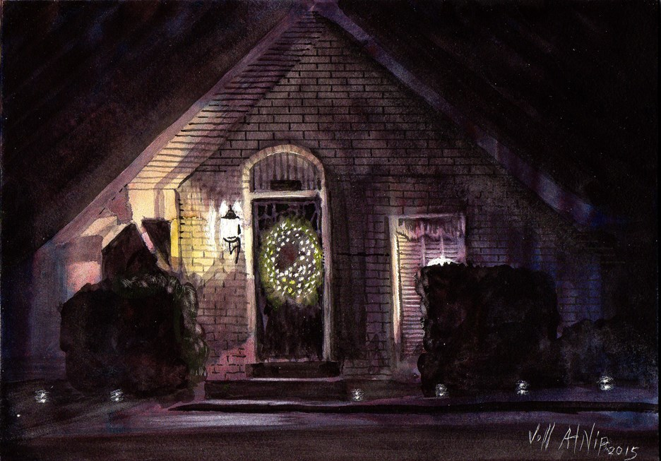 """Night Lights"" original fine art by Jeff Atnip"