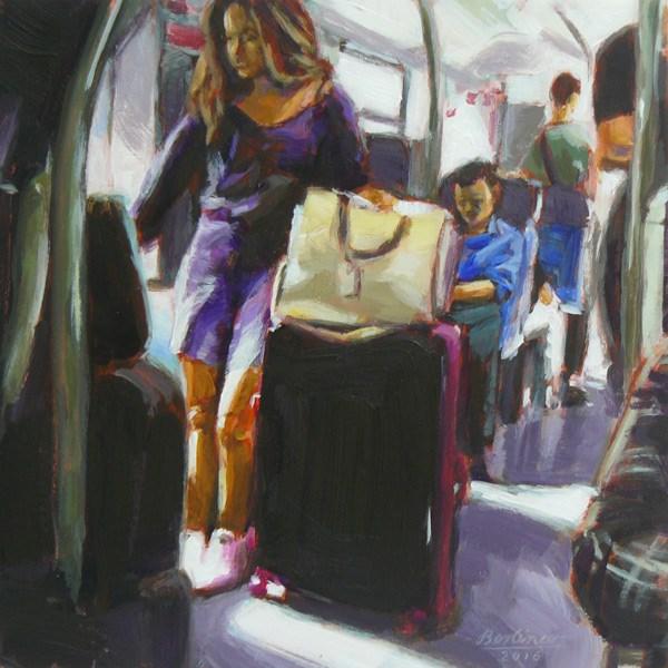 """""""053 Der große Koffer"""" original fine art by Anja Berliner"""