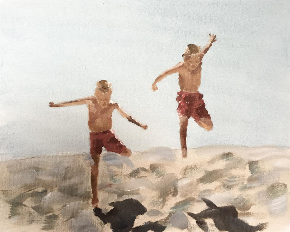 """Beach Boys"" original fine art by James Coates"