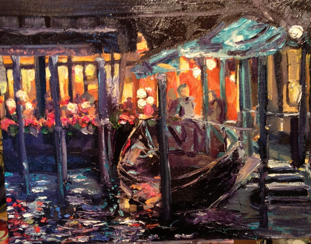 """Evening in Venice"" original fine art by Kelly Alge"