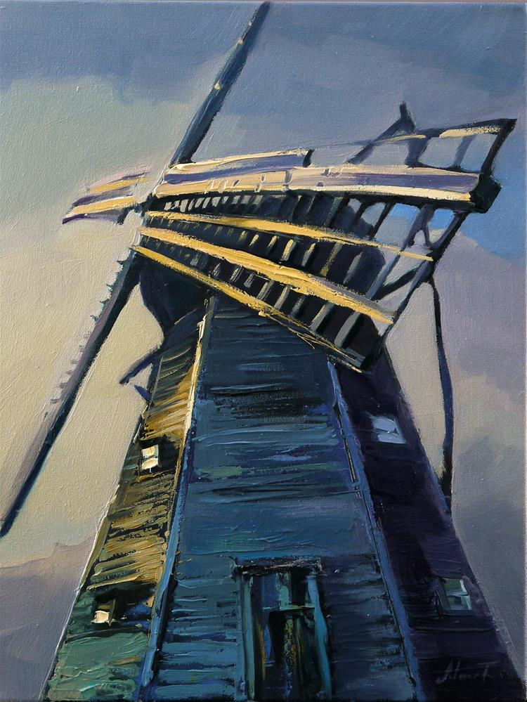"""windmill"" original fine art by Beata Musial-Tomaszewska"