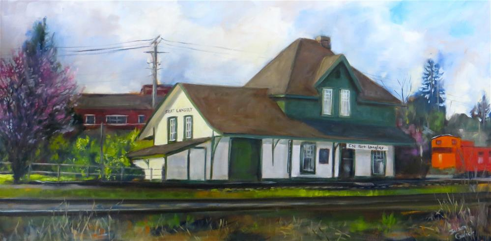 """Fort Langley 100 Year Old Train Station"" original fine art by Susan Galick"