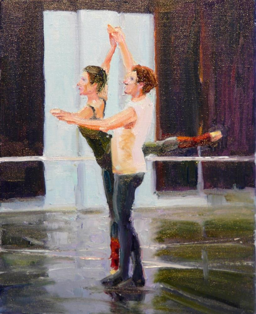 """A New Rehearsal,figures,oil on canvas,10x8,price$800"" original fine art by Joy Olney"