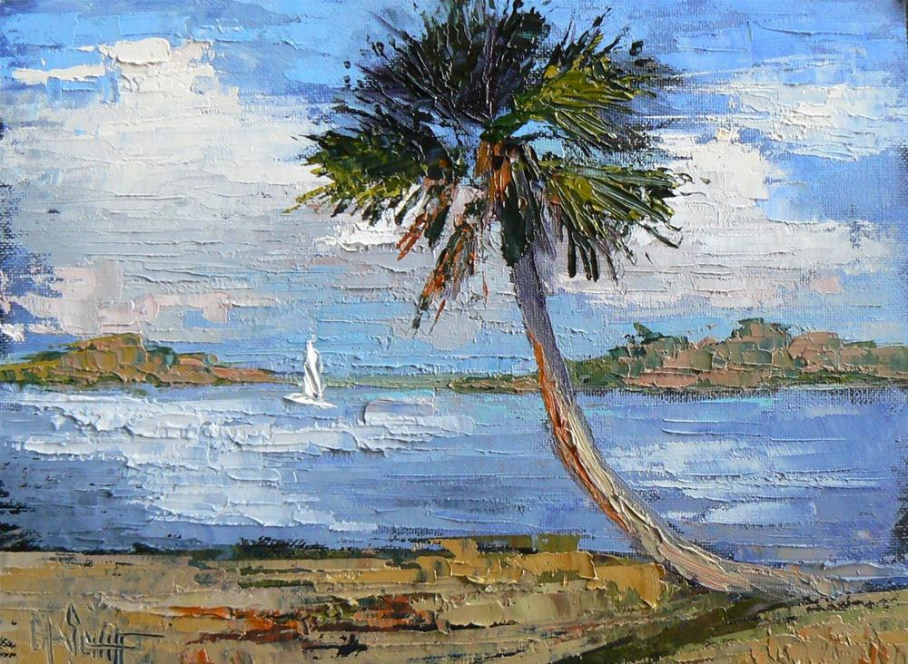 """Daily Painting Morning Sail 6x8 Oil Landscape"" original fine art by Carol Schiff"