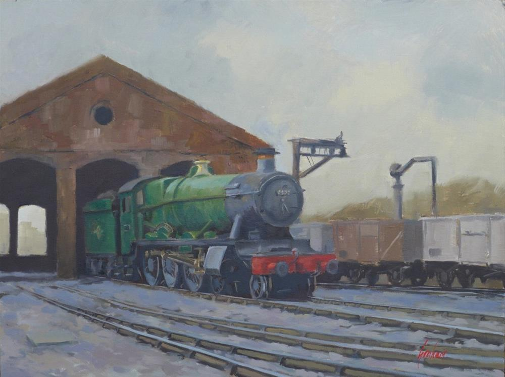"""Forthampton Grange at Worcester, summer 1964."" original fine art by Graham Townsend"