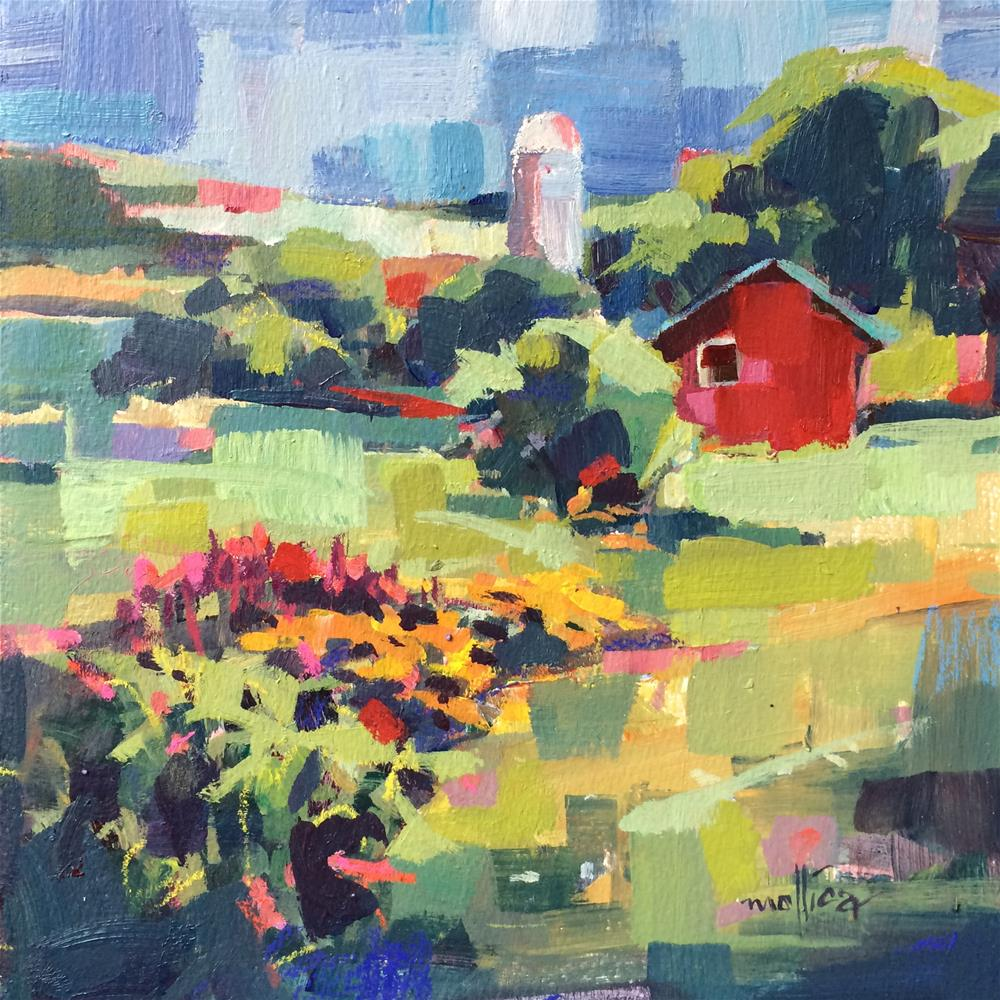 """Amy's Barn"" original fine art by Patti Mollica"