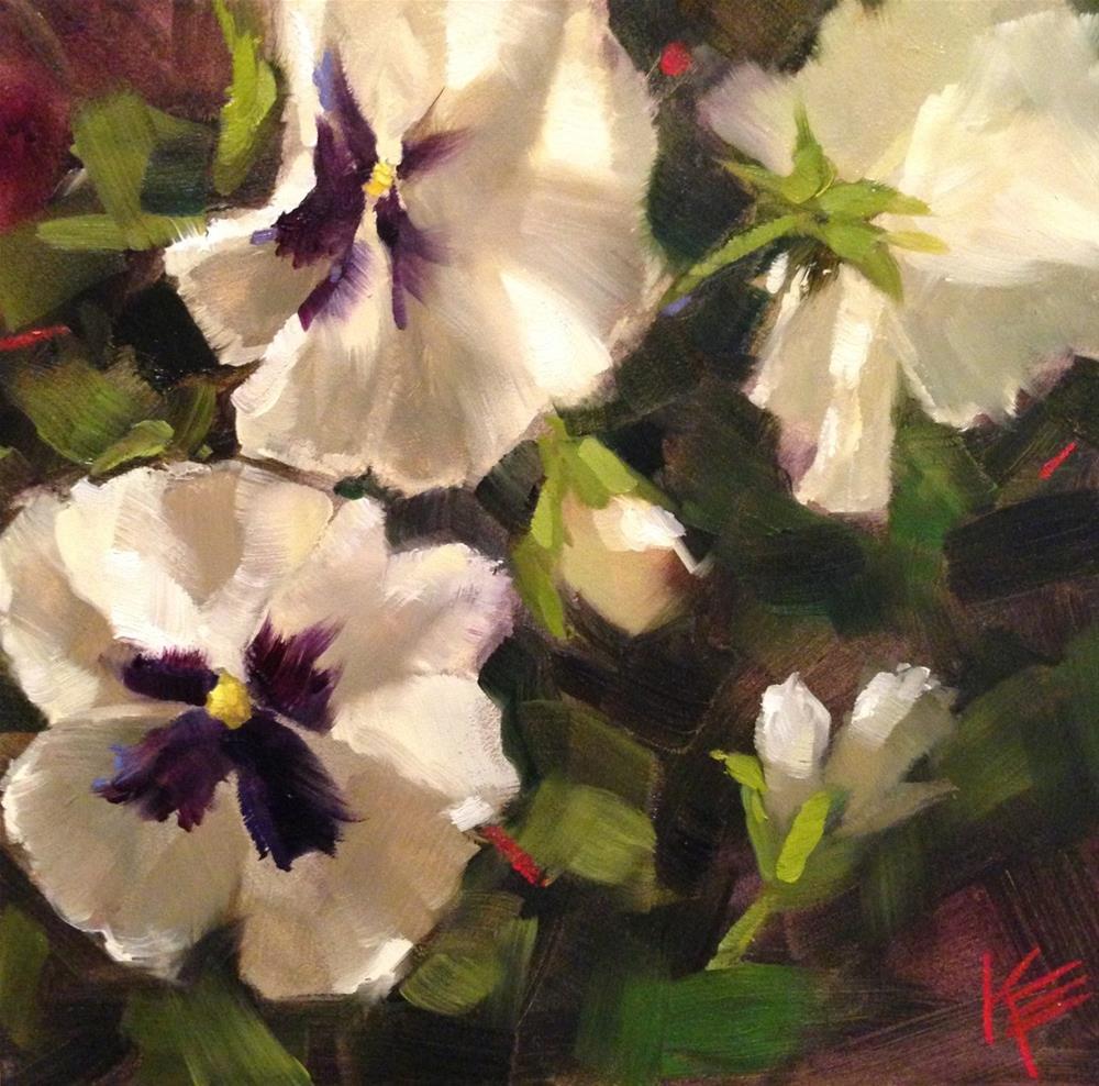 """Dress in White"" original fine art by Krista Eaton"
