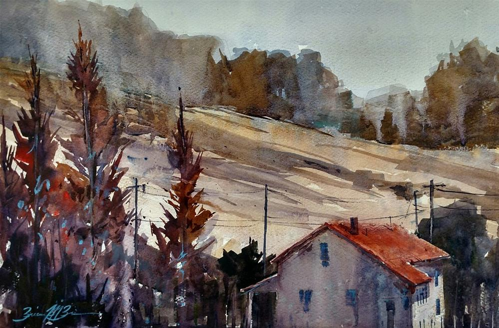 """Autumn Cypruss"" original fine art by Brienne M Brown"