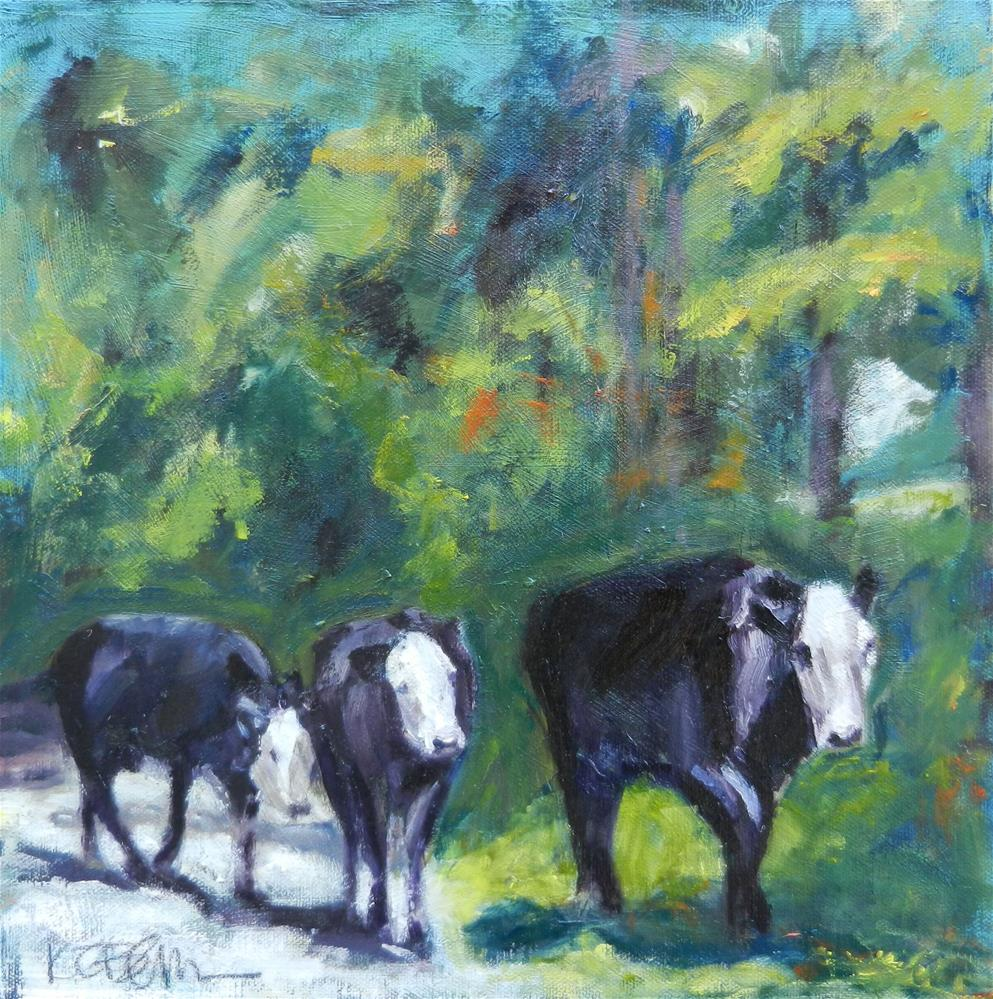 """Mr. Malcolm's Cows I"" original fine art by Kathy Broyles"