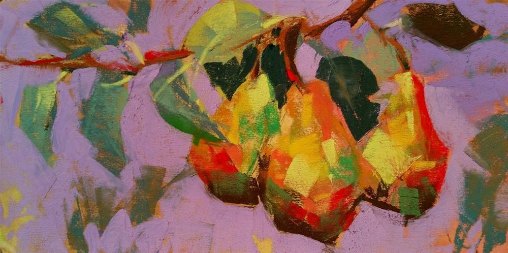 """Mauve Pears"" original fine art by Jennifer Evenhus"