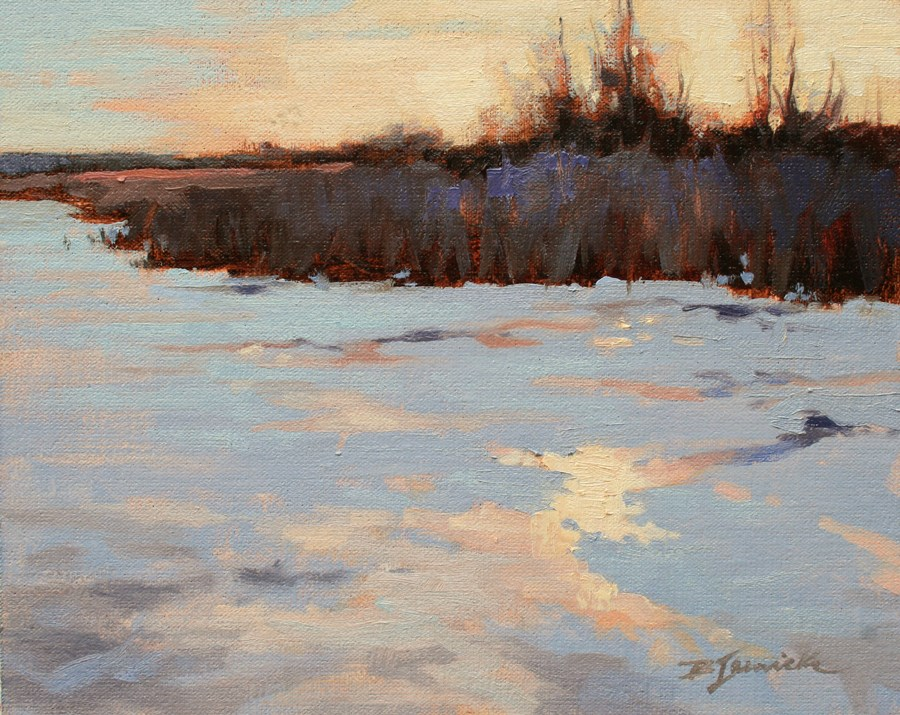 """Frozen"" original fine art by Barbara Jaenicke"