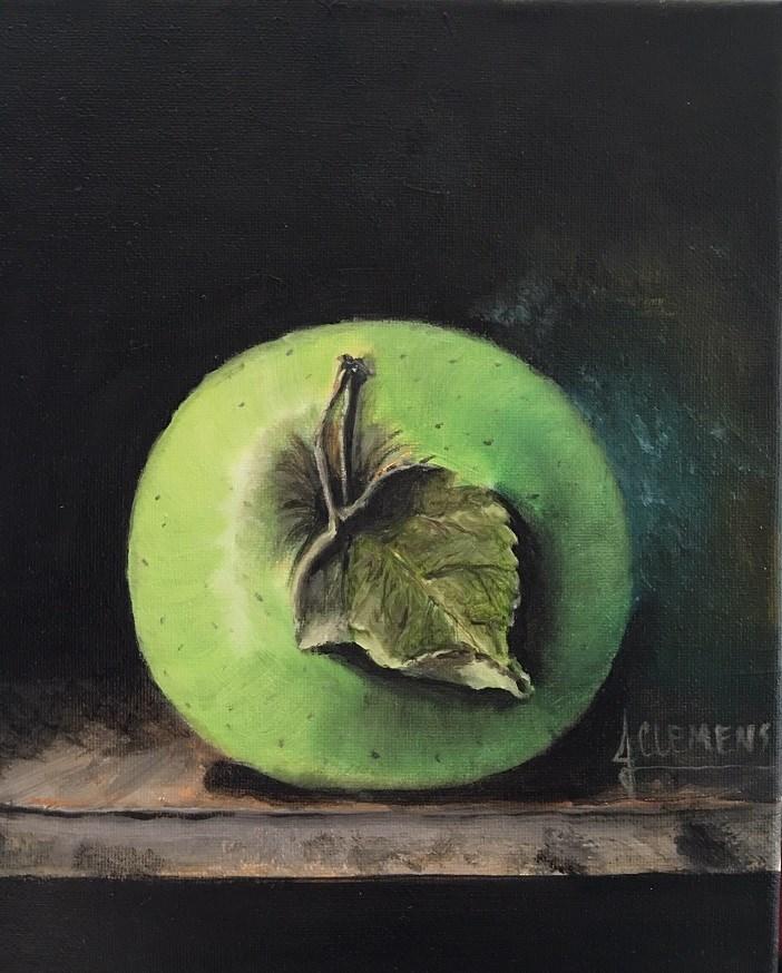 """Green Apple Study"" original fine art by Jolynn Clemens"