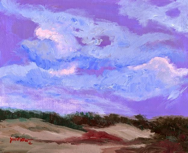 """ORIGINAL PAINTING  - EVENING CLOUDS"" original fine art by Sue Furrow"