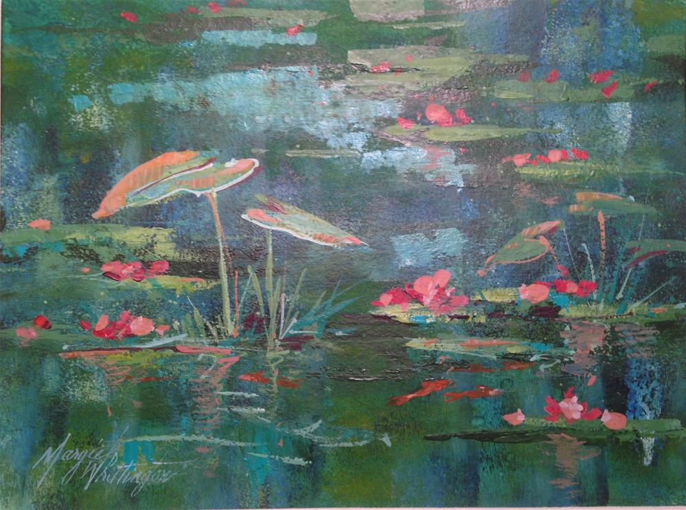 """Lily Pads 2j"" original fine art by Margie Whittington"