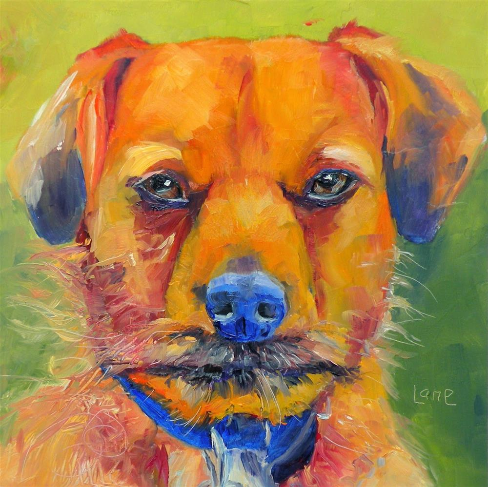 """LOTTIE 78/101 OF 101 PET PORTRAITS IN 101 DAYS © SAUNDRA LANE GALLOWAY"" original fine art by Saundra Lane Galloway"