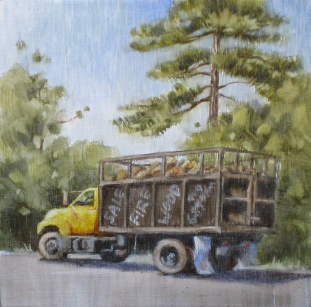 """Firewood for Sale"" original fine art by Ginger Pena"