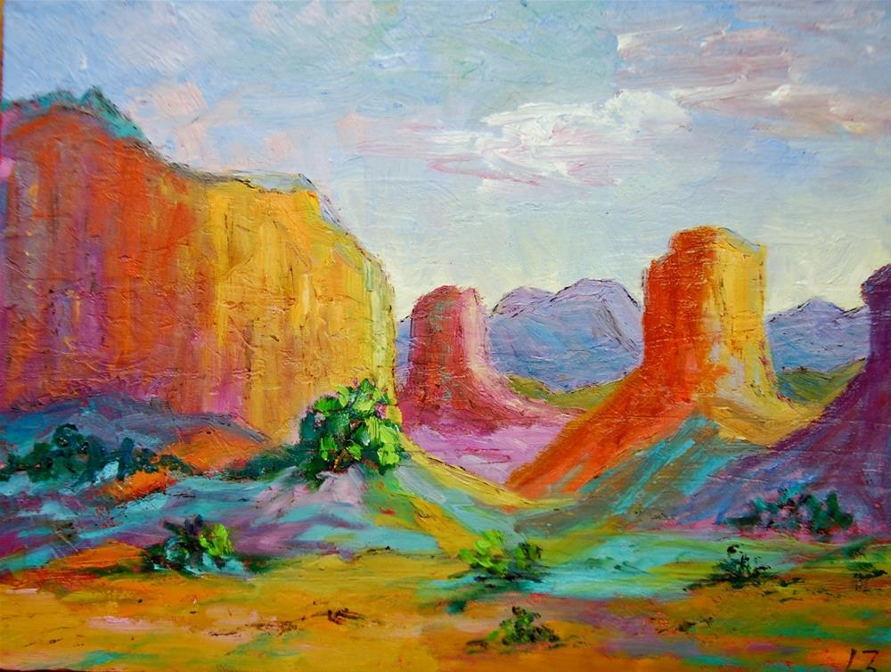 """New Mexico Morning"" original fine art by Liz Zornes"